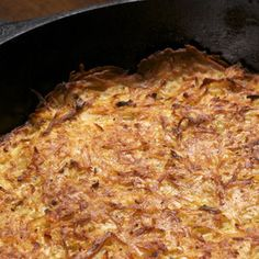 Enrich potato kugel by cooking it in schmaltz for a round, robust flavor. From Michael Ruhlman, found at www.edamam.com.