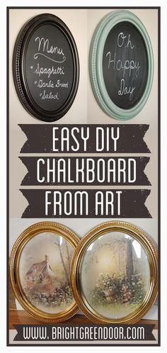 Easy DIY Chalkboard from Art