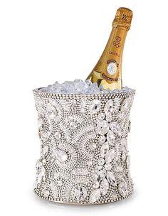 Crystal Christmas champagne bucket