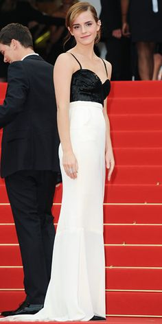 Emma Watson in black and white Chanel Couture in Cannes 2013