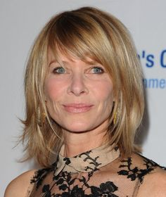 Kate Capshaw sports one of the sexiest new haircuts for the over-40 woman: a layered, mid-length hairstyle that features lots of layers and face-framing bang...