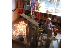 learning spaces, emilia inspir, reggio emilia, block area, block center, children play, the block, inspir preschool, play space