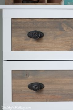 Ikea Tarva Hack - DIY coastal night stands Weathered Grey stain by Rustoleum + Early American by Minwax=beachy gray stain