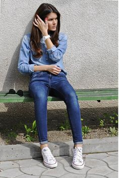 Mango-jeans-denim-h-m-shirt-converse-sneakers