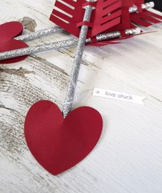 valentine heart arrow pencil | love struck tag