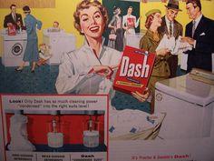 vintage laundry detergent, Dash!