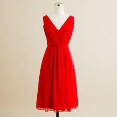 Bridesmaid dress in poppy