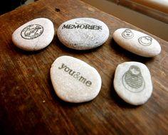 stamping on rocks