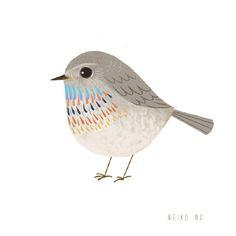 Bird Illustrations - link for more! Loooove this one, though! birds illustrations, neikoart, art prints, birdi print, bird prints, bird illustrations, neiko art, birds print, birds design