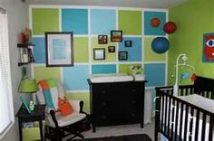 Baby Monster themed nursery...SO cute!!