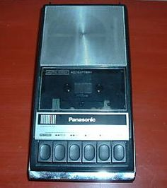 Panasonic Cassette Player.  I had this exact one with a microphone.