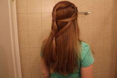 This is Daenerys Targaryen wedding scene inspired hair.