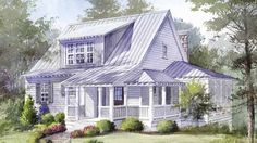 "Ideal mountain house or lakeside retreat!  House plans for 1,800 square foot ""getaway"" called Skitter Creek Cottage, plan#1380."