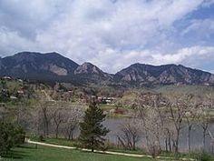 the Flatirons on Boulder, CO.