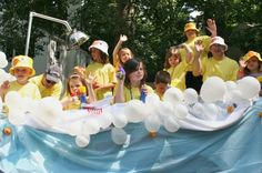 Easy parade float ideas planted by streams enjoying summer