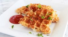 Waffle iron hash browns- pretty amazing idea