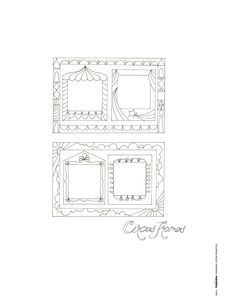 Free circus frame printables