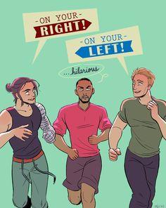Captain America, Falcon, and Bucky:-)