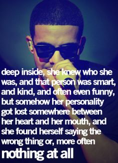 Drake Quotes | Cute Quotes Frm bd: Drake Quotes [Jst substitute he for she & his for her!]