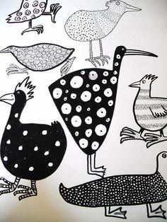 Patterned birds