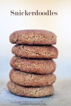 Snickerdoodles, the perfect thick and chewy recipe.