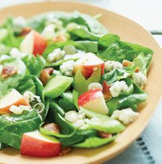 onion vinaigrett, appl salad, green onions