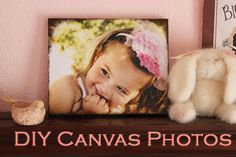 DIY Canvas Photo for Mother's Day from @Stefanie (Girl. Inspired.) | Make your own photos on canvas | Canvas Photo Print