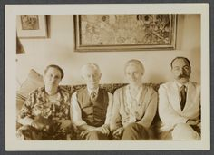(L to R) Mrs. Pach, Charles Prendergast, Eugénie Prendergast, and Walter Pach   1930 at Williams College Museum of Art, Prendergast Archive and Study Center
