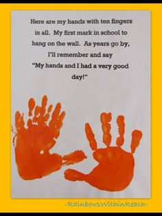 Cute activity to do first week of school and put away for preschool end of year books.