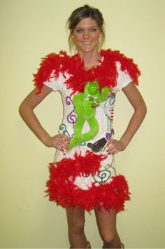 for ugly christmas sweater parties  grinch dress
