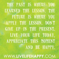 The past..
