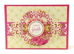 The 50 images in the Anna Griffin Elegant Embellishments Cricut cartridge will make you giddy with delight! There are beautiful cards, borders, flowers, doilies, tags, icons and words with the unbelievable detail.