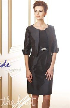 Sheath dress with a three-quarter sleeve jacket by Jasmine