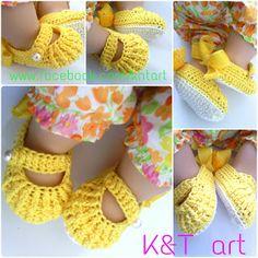Crochet Baby Shoes - Tutorial ❥ 4U / /hf
