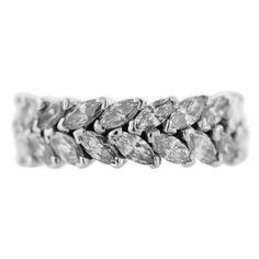 1stdibs   Marquise Cut Diamond Platinum Eternity Ring