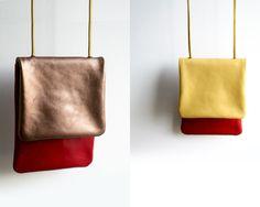DIY: reversible color blocked leather bag