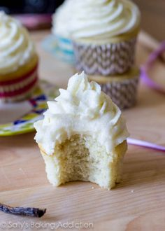 The best vanilla cupcake. There is a secret ingredient that makes all the difference.