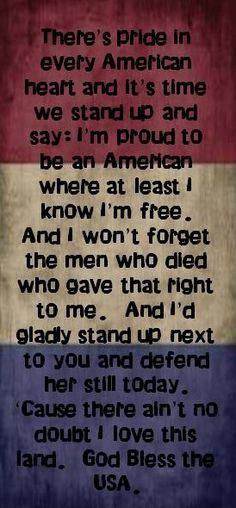 GOD BLESS THE USA!!