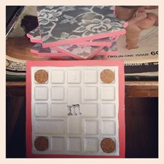 DIY lace spray paint tile coasters with coral accent