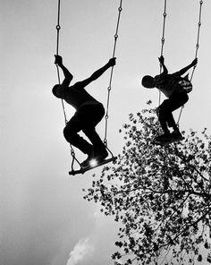 Photo by Eddie Hausner - Swing Silhouette, 1967.