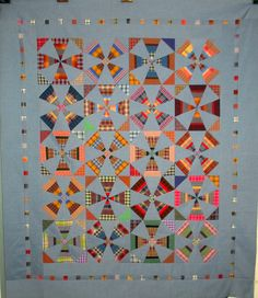 T-Kaleidoscopes Gone Casual | quilt by Linda Miller miller quilt, quilti idea, quilt top, casual, quilt plaid, kaleidoscop quilt, quiltsew idea