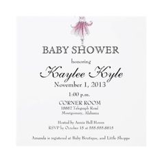 Ballerina Baby Shower