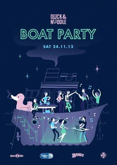 Duck & Noodle, Russian Standard Vodka, and Tiger Beer are pleased to invite you to our Boat Party.    4 Bands - 5 DJs - 2 Stages - 1 Boat  Saturday 24 November, 2012  7:00 pm until late  ||||  https://www.facebook.com/events/402427463164348/