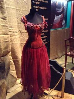 Costume worn by Anne Hathaway as Fantine, in the film adaption of the Broadway musical Les Miserables, based on the novel by Victor Hugo. Costume design by Paco Delgado.