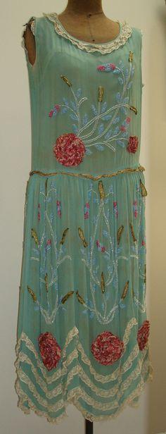 1920 silk  flapper's dress....