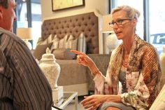 """Candice Olson talking design at Robb & Stucky in Naples FL. """"It's not all puppies and kittens.   Design is a business.  Treat your client's money as if it were your own."""" #design #furniture  #highlandhousefurniture#keithisaac"""
