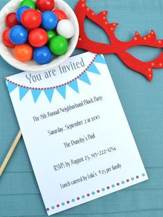 hgtv FREE Printable Party Invitations.  So awesome!