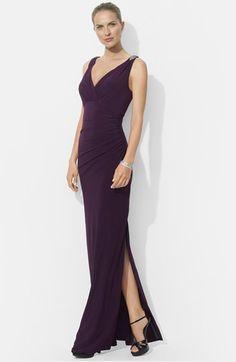 Lauren Ralph Lauren Embellished Jersey Gown available at #Nordstrom