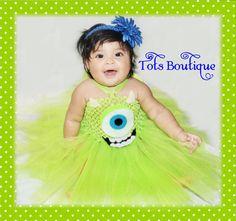 Mike Wazowski Monster's Inc University Inspired tutu dress- Infant