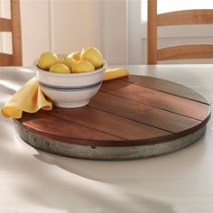 Just found this Lazy Susan Wine Barrel Top - Wine Barrel Lazy Susan -- Orvis on Orvis.com!